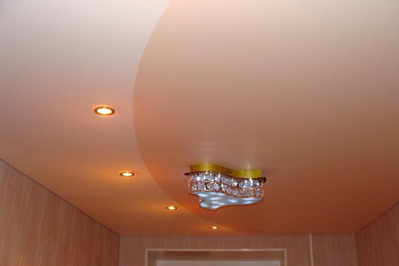 Натяжные потолки одноуровневые в зал дизайн